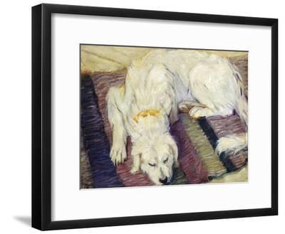Reclining Dog (Portrait of a Dog), 1909