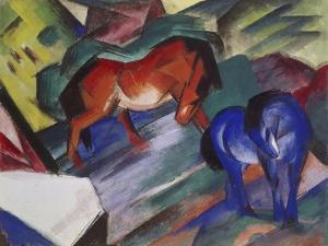 Red and Blue Horse, 1912 by Franz Marc