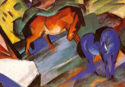 Red and Blue Horses by Franz Marc