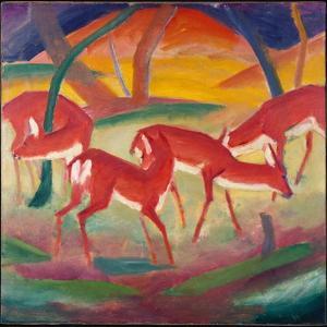 Red Deer 1, 1910 by Franz Marc