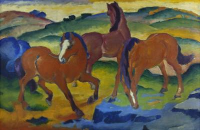 Red Horses (Grazing Horses Iv.), 1911 by Franz Marc