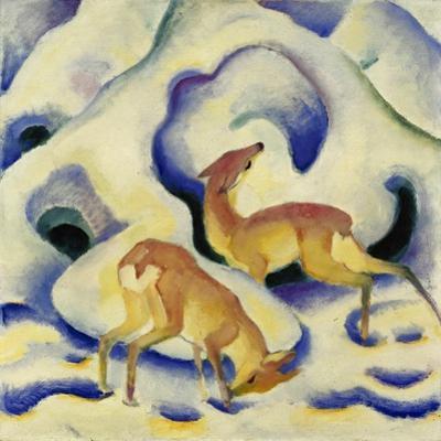 Rehe Im Schnee, 1911