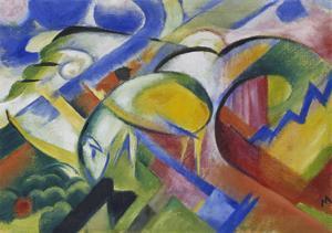 Schaf, 1914 by Franz Marc
