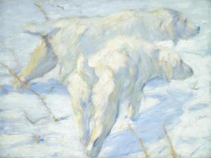 Siberian Dogs in the Snow, 1909-10 by Franz Marc