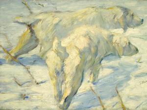 Siberian Dogs in the Snow by Franz Marc