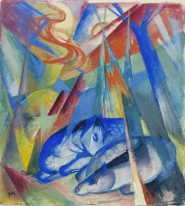 Sleeping Animals, 1913 by Franz Marc
