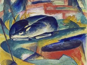 Sleeping Deer, 1912/13 by Franz Marc