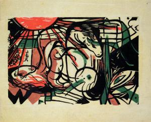 The Birth of the Horse, 1913 by Franz Marc