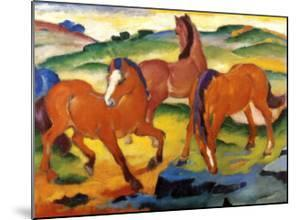The Large Red Horses, 1911 by Franz Marc