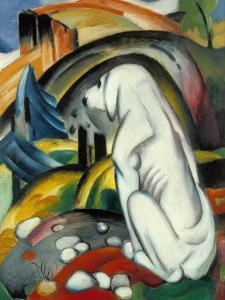 The White Dog (Hund Vor Der Welt), 1912 by Franz Marc