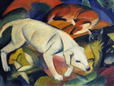 Three Animals (A Dog, a Fox, and a Cat), 1912