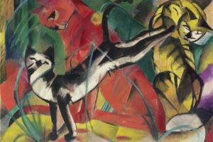 Three Cats, 1913 by Franz Marc