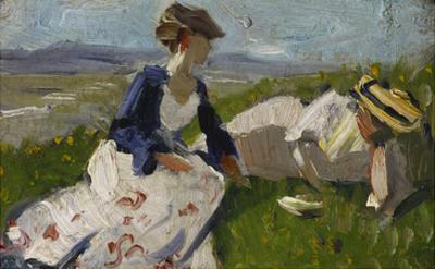 Two Women on a Hill (Maria Marc and Marie Schnuer), 1906