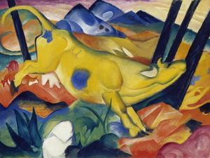 Yellow Cow, 1911 by Franz Marc