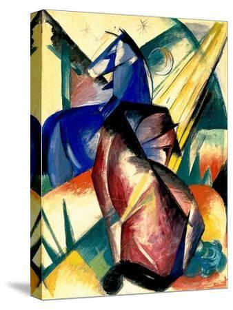 Zwei Pferde Rot Und Blau, 1912