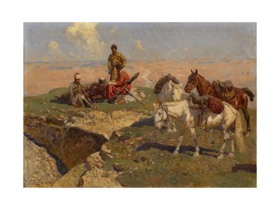 Caucasian Riders at Rest, 1917