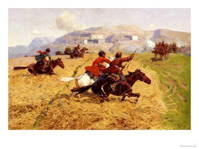 Cossacks Charging Into Battle