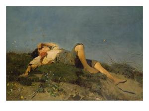 A Shepherd Boy, 1860 by Franz Seraph von Lenbach