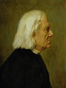 The Composer Franz Liszt (1811-86), 1884 by Franz Seraph von Lenbach