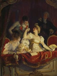 In the Loge, about 1900 by Franz Simm