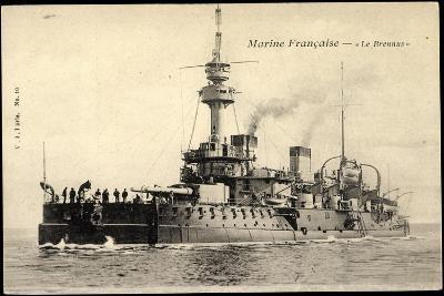 Franz?sische Marine, Le Brennus, Kriegsschiff--Giclee Print