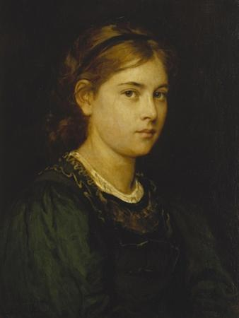 Portrait of a Girl, 1876 by Franz Von Defregger