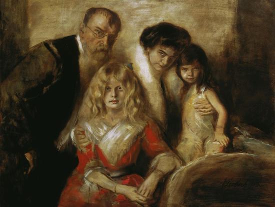Franz Von Lenbach with Wife and Daughters-Franz Von Lenbach-Giclee Print