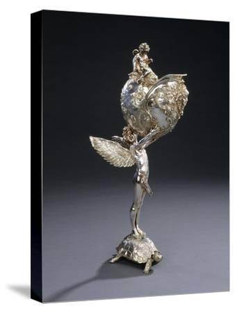 A W.M.F. Electroplated Bronze Sculptural Flower Holder