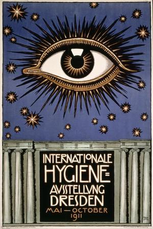 Advertisement for the 'First International Hygiene Exhibition' in Dresden, Printed by Leutert Und…