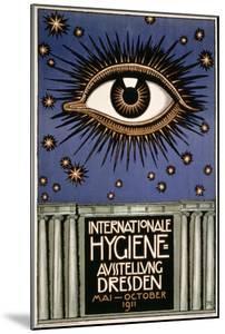 Advertisement for the 'First International Hygiene Exhibition' in Dresden, Printed by Leutert Und… by Franz von Stuck