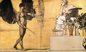 Allegory of Painting with the Genius of Glory by Franz von Stuck