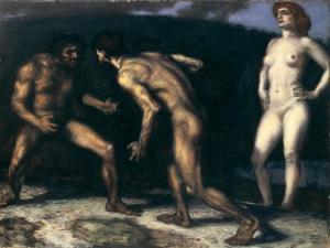 Battle for a Woman, 1905 by Franz von Stuck