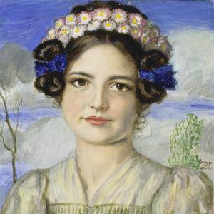 Bildnis der Tochter Mary by Franz von Stuck
