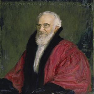 Bildnis Lujo Brentano. 1915 by Franz von Stuck
