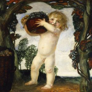 Boy with Grapes; Knabe Mit Trauben, 1903 by Franz von Stuck