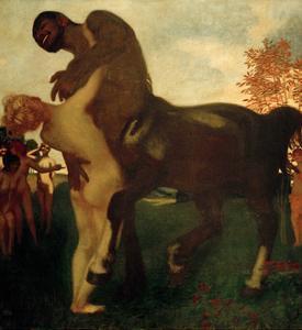 Centaur and Nymph, 1895 by Franz von Stuck