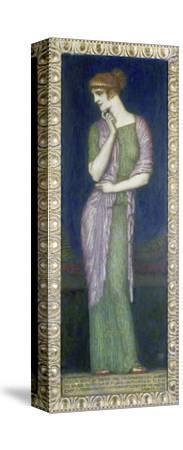 Helena. Tafelbild auf Holz mit einem Vers aus der Illias