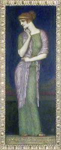 Helena. Tafelbild auf Holz mit einem Vers aus der Illias by Franz von Stuck
