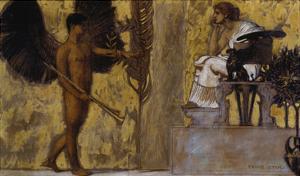 Huldigung an Die Malerei, 1889 by Franz von Stuck