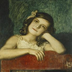 Portrait of Mary, the Artist's Daughter by Franz von Stuck