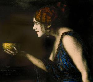 "Role in ""Circe"" by Pedro Calderon de la Barca, 1912/13 by Franz von Stuck"