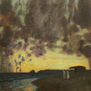 Sonnenuntergang am Meer by Franz von Stuck