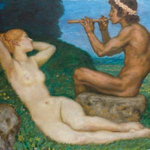 Spring Love; Liebesfrhling, 1917 by Franz von Stuck