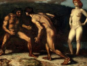 The Fight over a Woman, 1905 by Franz von Stuck