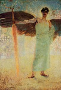 The Guardians of Paradise, 1889 by Franz von Stuck