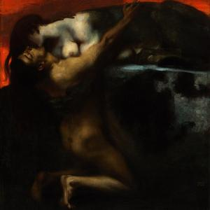 The Kiss of the Sphinx by Franz von Stuck