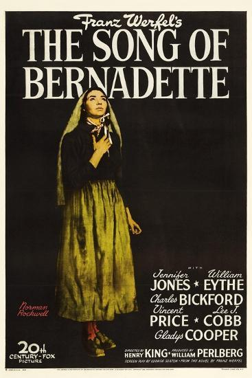 """Franz Werfel's the Song of Bernadette, 1943, """"The Song of Bernadette"""" Directed by Henry King--Giclee Print"""