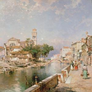 The Canal Tolentini by Franz Xaver Thallmaier