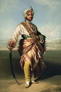 Duleep Singh, Maharajah of Lahore (1838-93), 1854 Lithographed by R.J. Lane by Franz Xaver Winterhalter