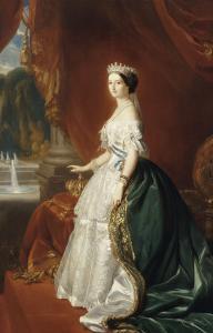 Eugénie de Montijo de Guzman (1826-1920), impératrice des Français - portrait officiel en 1853 by Franz Xaver Winterhalter